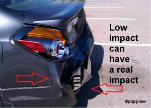 low impact bumper damage