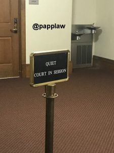Quiet Court in Session