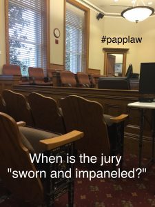 Jury impaneled and sworn