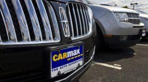 Carmax paper license plate