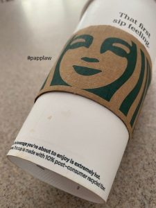 Starbucks Cup spilled